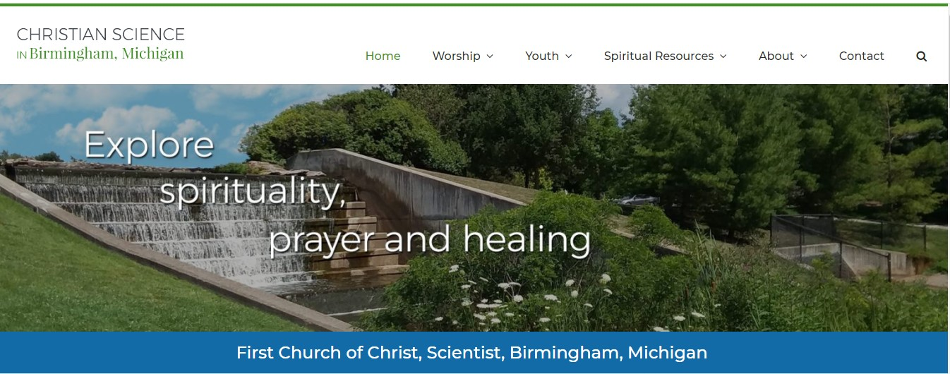 Birmingham CS Church website home page